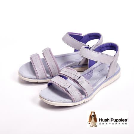 Hush Puppies MARGO AIDA經典機能健走系列涼鞋-銀(另有黑)