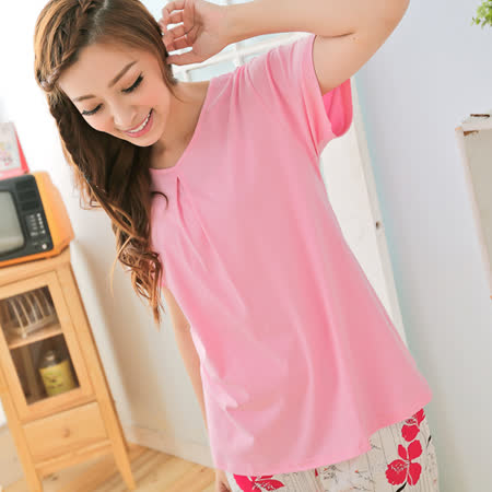 Wonderland  ST6254純色元素精梳棉T-shirt(粉紅)