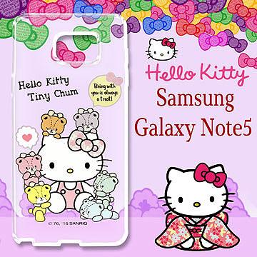 三麗鷗 Hello Kitty 凱蒂貓 Samsung Galaxy Note5 浮雕彩繪