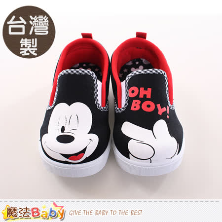 魔法Baby~童鞋 台灣製迪士尼米奇正版兒童帆布鞋 sh9721
