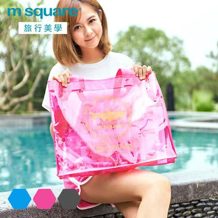 M square 親水系列PVC透明單肩包