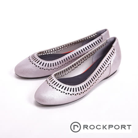 Rockport 真皮休閒平底女鞋-白