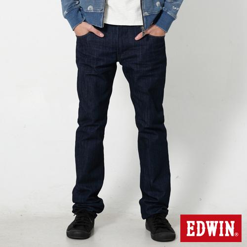EDWIN EDGE LINE 麂皮芽邊小直筒牛仔褲~男~原藍色