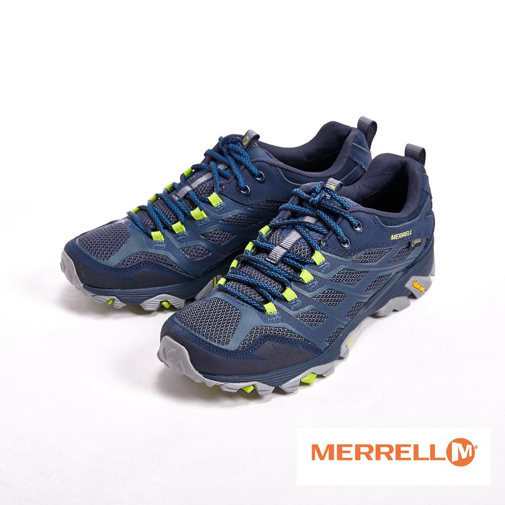 MERRELL 透氣綁帶 鞋 男鞋~藍