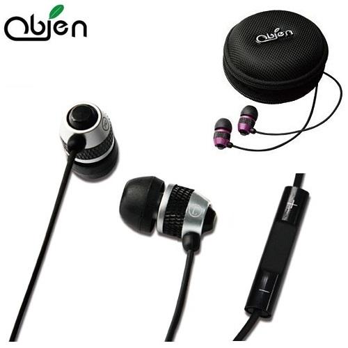 OBIEN 入耳式立體聲麥克風耳機 (附高級耳機收納盒) - 兩色可選