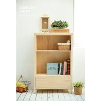 [自然行]原木中書櫃(水洗白/安全環保塗裝)