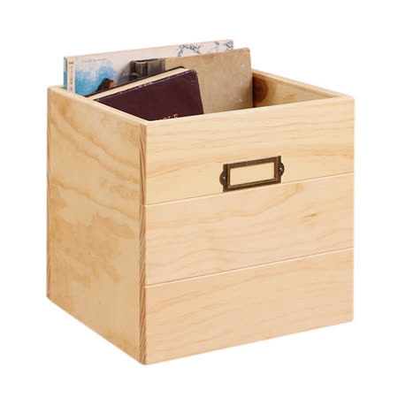 [自然行] 鄉村雜貨收納箱一入(扁柏自然色/安全環保塗裝)