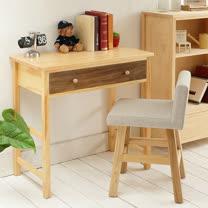 [自然行] 多機能書桌/ 兩用桌 (寬80cm/ 原木咖啡色)
