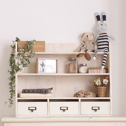 CiS^~自然行^~實木  雜貨櫃M款 ^(南法風格象牙白色安全環保塗裝免組裝實木收納化妝