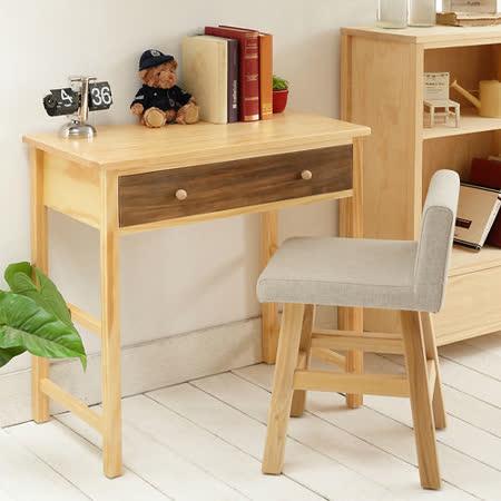 [自然行] 多機能書桌/ 兩用桌 (寬90cm/ 原木胡桃咖啡)