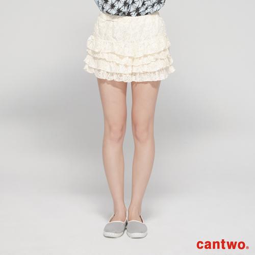 cantwo蕾絲蛋糕短褲^(共二色^)