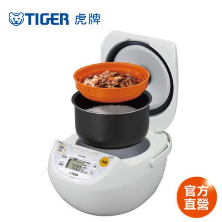 【 TIGER 虎牌】日本製_10人份微電腦炊飯電子鍋(JBV-S18R-WX)買就送專用料理食譜