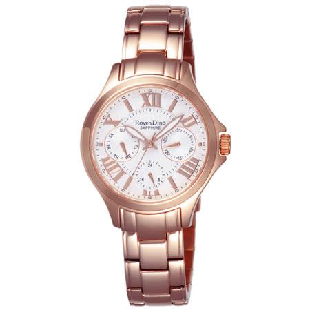 Roven Dino羅梵迪諾  漫遊羅馬三眼腕錶-RD706RG-456W