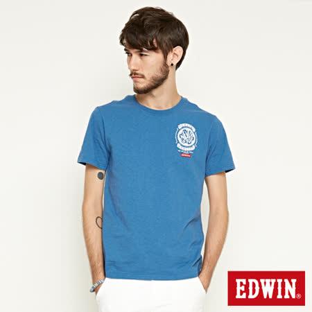 EDWIN RIDE NEVER STOP短袖T恤-灰藍