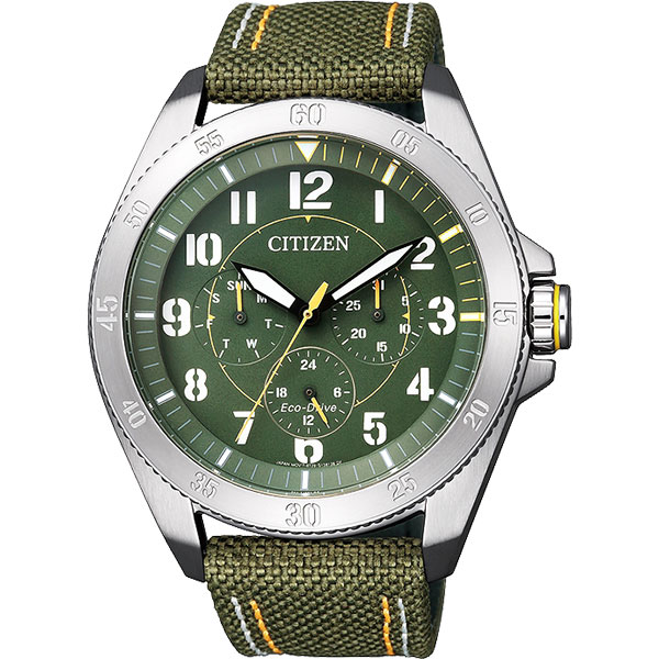 CITIZEN Eco~Drive 光動能越野 日曆腕錶~綠44mm BU2030~09W