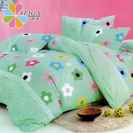 飾家 《花夢佳人》 雙人絲柔棉四件式涼被床包組台灣製造