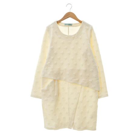 T-PARTS 棉質洋裝-白