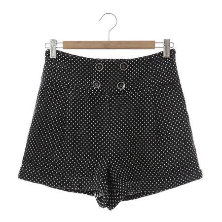 T-PARTS 百搭短褲-黑點