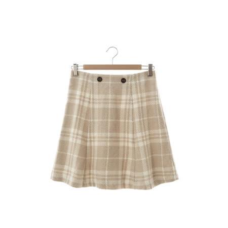 T-PARTS 格紋短裙-卡