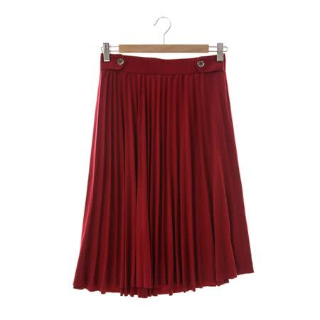 T-PARTS 百摺裙-紅