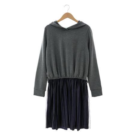 T-PARTS 棉質洋裝-灰黑