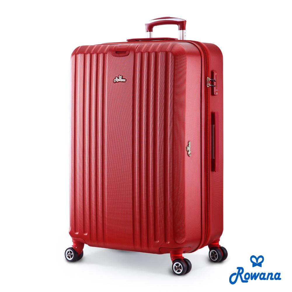 Rowana 彩漾夏宴可加大遠 傳 快樂 購防爆拉鍊行李箱 29吋(高雅紅)