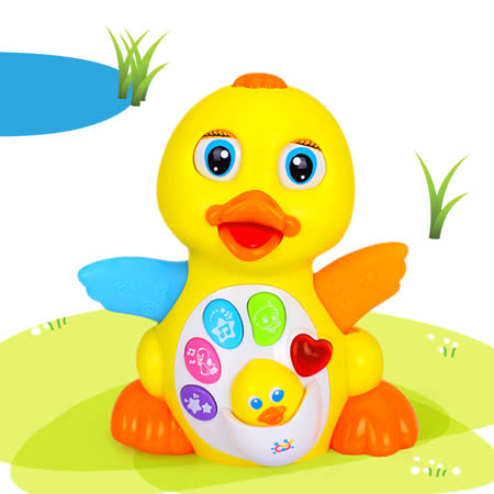 【funKids】可愛鴨鴨移動聲光音樂玩具