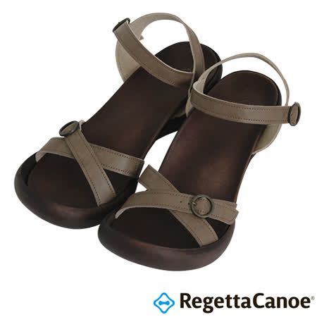RegettaCanoe _(女款)CJFD-5504優雅樂步休閒鞋-淡褐色