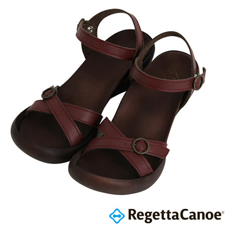 RegettaCanoe _(女款)CJFD-5504優雅樂步休閒鞋-酒紅色