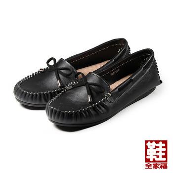 (女) 縫線套式休閒鞋 黑 鞋全家福