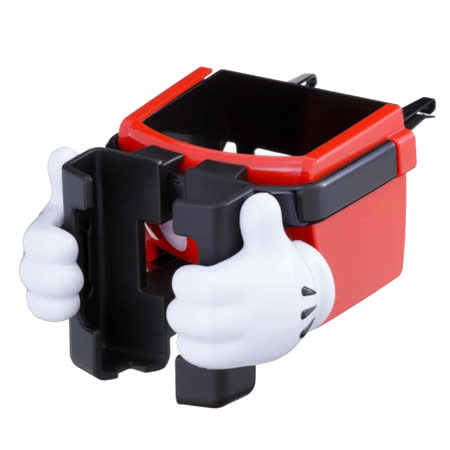 【NAPOLEXx迪士尼】米奇冷氣孔手機杯架WD269(汽車︱收納置物︱固定架)