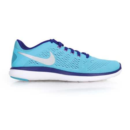 (女) NIKE FLEX 2016 RN 慢跑鞋- 路跑 健身 訓練 水藍紫