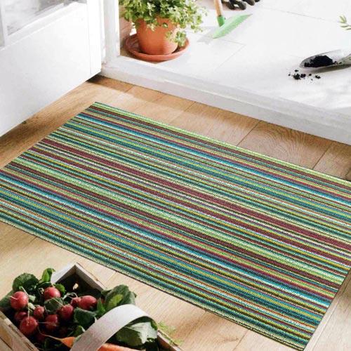 范登伯格 魯伯PVC彩色條紋刮泥地墊~45x70cm