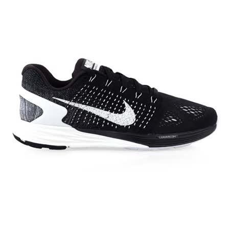 (男) NIKE LUNARGLIDE 7 慢跑鞋- 路跑 氣墊 編織 健身 黑灰白