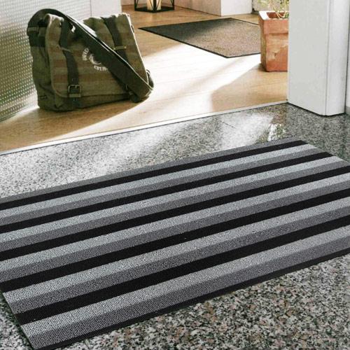 范登伯格 魯伯PVC黑白條紋刮泥地墊~45x70cm