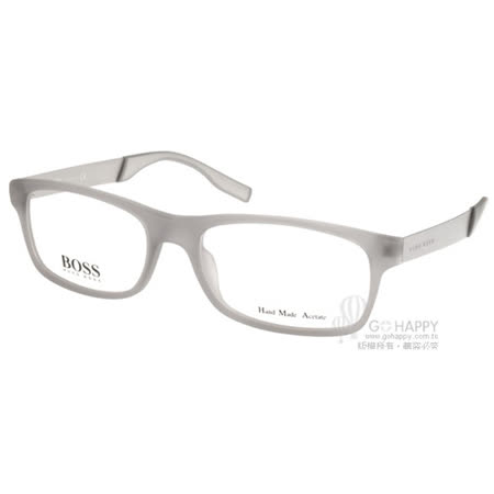 【真心勸敗】gohappy快樂購物網HUGO BOSS 光學眼鏡 沉穩經典方框款 (灰) #HB0550 E70評價如何sogo 忠孝 復興 館