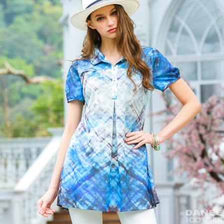 岱妮蠶絲 - 未來流行開襟短袖上衣