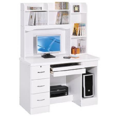 HAPPYHOME 進興白色4尺電腦桌組UZ6-296-11