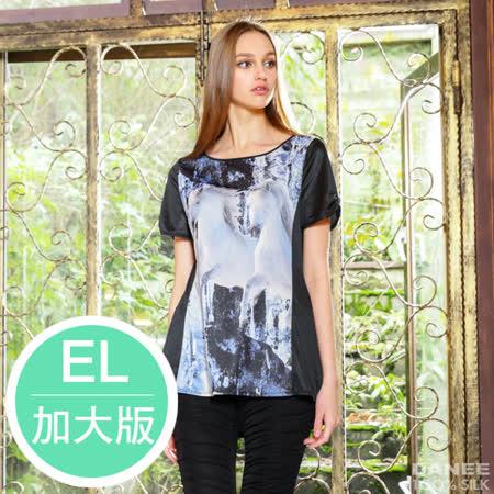 岱妮蠶絲 - 幸運馬短袖上衣(加大EL)