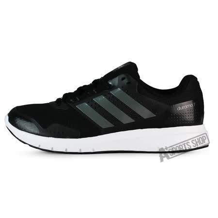 ADIDAS (男) 愛迪達 DURAMO 7 M 慢跑鞋 黑/白-AF6669