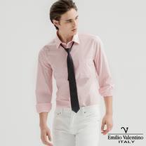 范倫提諾 都會經典長袖襯衫-粉紅