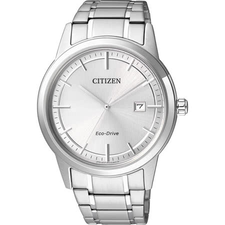 CITIZEN Eco-Drive 經典都會腕錶-銀/40mm AW1231-58A