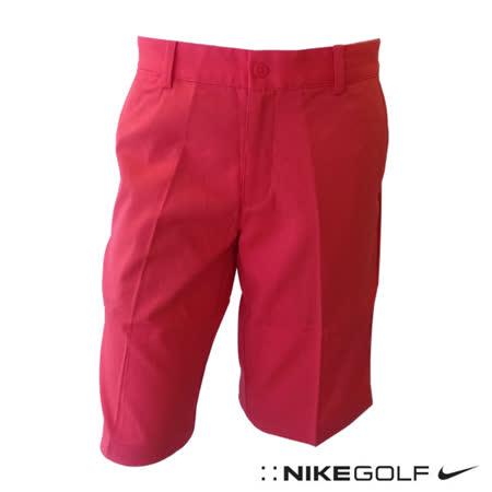 Nike 休閒排汗素面運動短褲(紅)639805-647