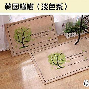 窩自在 韓系超唯美吸水防滑地墊/門墊-韓國樹 (40X60)