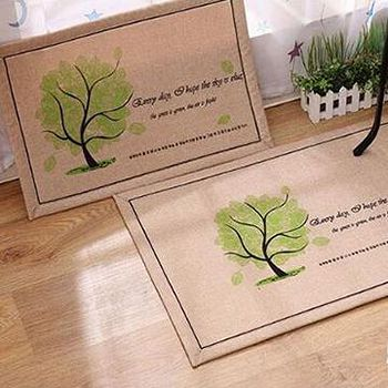 窩自在 韓系超唯美吸水防滑地墊/門墊/地毯-韓國樹 (50X80)