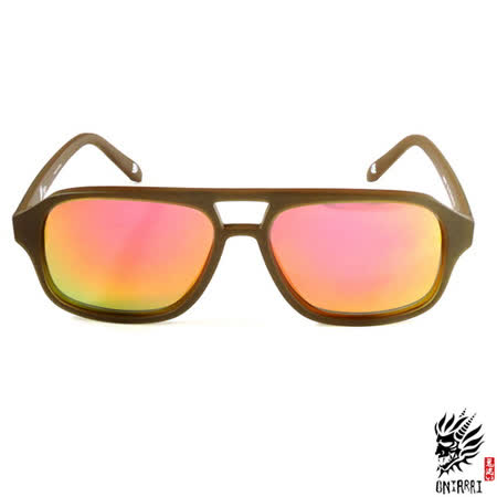 【ONIARAI鬼洗】反光太陽眼鏡-棕色001-C3