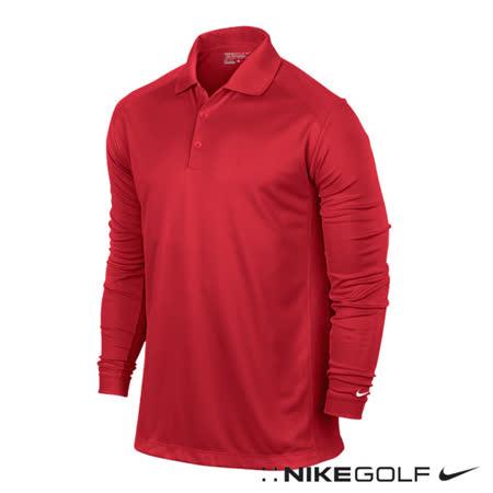 NikeGolf 運動休閒快速排汗長袖polo杉(紅)544264-660