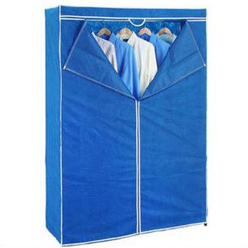 上宜 鐵架高手不織布衣櫥防塵套-亮麗紫(122*45*175cm)