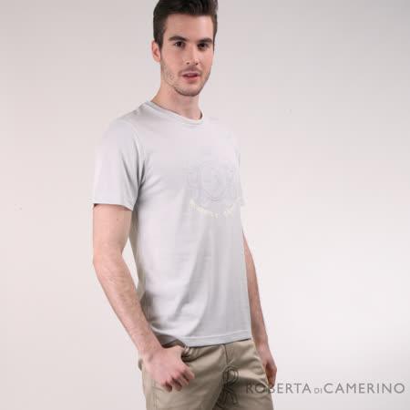 ROBERTA諾貝達 台灣製 吸濕排汗 圓領T恤 短袖POLO衫 灰色