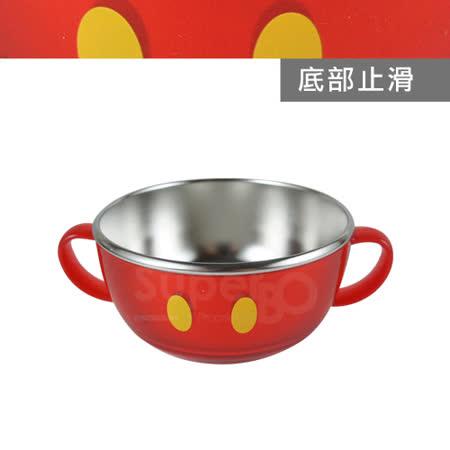 不鏽鋼雙耳碗-米奇(紅)